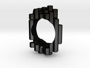 Ring Silices in Matte Black Steel: 4 / 46.5