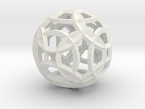 Sea Of Circles in White Natural Versatile Plastic