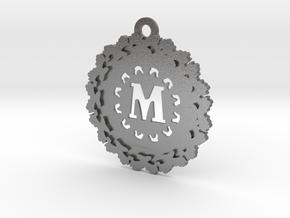 Magic Letter M Pendant in Natural Silver