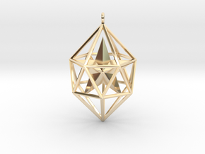 SUPER GEOMETRICAL PENDANT -50% OFF in 14k Gold Plated Brass