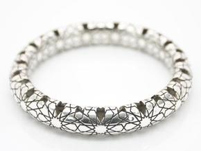 Beraldo Bangle - Silver  in Polished Silver