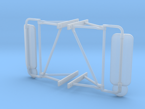Truck Mirrors, Pair 1/14 Scale in Smooth Fine Detail Plastic