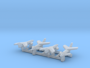 """(1:700) (x4) Messerschmitt Me P.1110 """"Ente"""" in Smooth Fine Detail Plastic"""