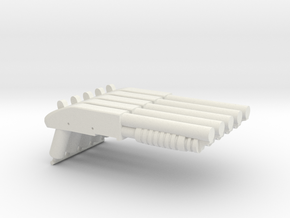 5x Ithaca Stake out pumpgun for Playmobil figures in White Natural Versatile Plastic