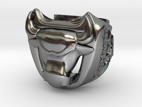 LARGE BULL ferdinand  in Polished Silver: 10 / 61.5
