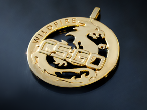 CS:GO Wildfire Medallion in 14k Gold Plated Brass