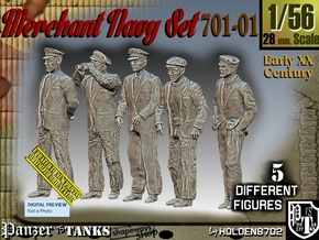 1/56 Merchant Navy Set 701-01 in Smooth Fine Detail Plastic