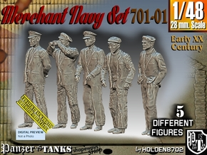 1/48 Merchant Navy Set 701-01 in Smooth Fine Detail Plastic