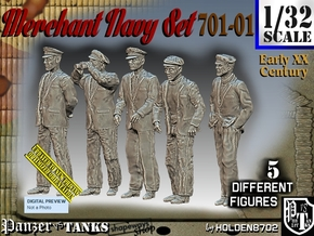 1/32 Merchant Navy Set 701-01 in White Natural Versatile Plastic