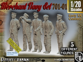 1/20 Merchant Navy Set 701-01 in White Natural Versatile Plastic