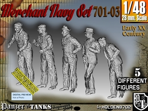1/48 Merchant Navy Set 701-03 in Smooth Fine Detail Plastic
