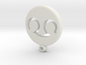 Fantasy Scholar Icon Medallion in White Natural Versatile Plastic