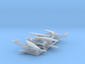 (1:700) (x4) Messerschmitt Me P.1109  in Smooth Fine Detail Plastic