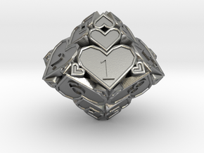 D10 Balanced - Hearts in Natural Silver
