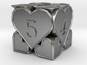 D6 Balanced - Hearts in Natural Silver