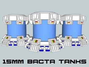 15mm Bacta Tanks (Full) (3pcs) in White Natural Versatile Plastic