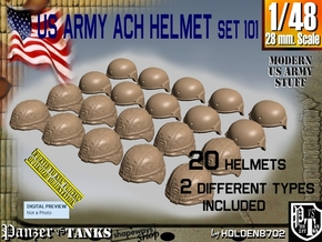 1/48 ACH Helmet Set101 in Smooth Fine Detail Plastic