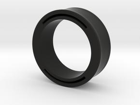 nfc ring 2 -size8 in Black Premium Versatile Plastic
