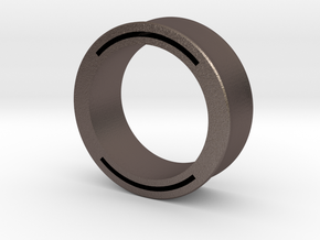 nfc ring 2 -size8 in Polished Bronzed Silver Steel