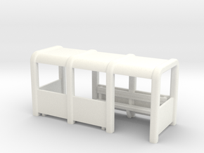 OO Gauge Platform/Bus Shelter in White Processed Versatile Plastic