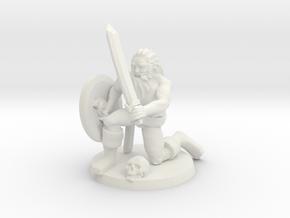 Leif the Viking in White Natural Versatile Plastic