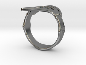 AssassinCreed_Ring_US8 in Polished Silver