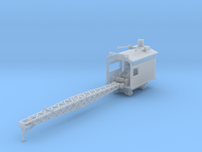 Logging rail car mounted crane Z scale in Smooth Fine Detail Plastic