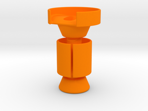 Belltower DB Drop Bar End Mount for Spurcycle Bell in Orange Processed Versatile Plastic