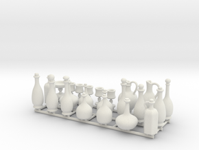 Drinkware for 1:24 scale settings.  in White Natural Versatile Plastic