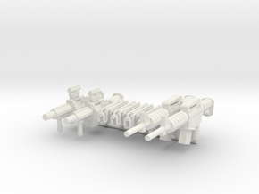 Combat Weapon Pack V2 for Playmobil figures in White Natural Versatile Plastic