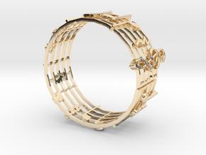 Music Bracelet in 14K Yellow Gold