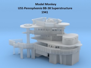 1/200 USS Pennsylvania BB-38 Superstructure 1941 in Smooth Fine Detail Plastic