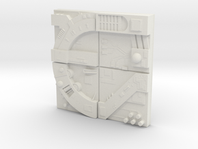 tile_deathstar_16 in White Natural Versatile Plastic