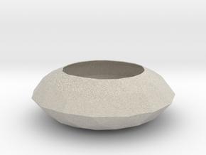 Diamond Bowl in Natural Sandstone