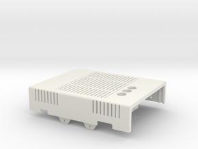 MiSTer Case Universal v5.x Top Shell(1/4) in White Premium Versatile Plastic