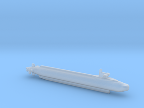 1/1250 Scale US Navy NR-1 Test Submerine in Smooth Fine Detail Plastic