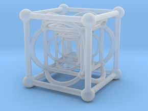 Nested Cubes in Smooth Fine Detail Plastic