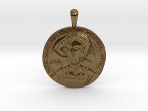Anne Boleyn's 'Moost Happi' Portrait Pendant in Polished Bronze