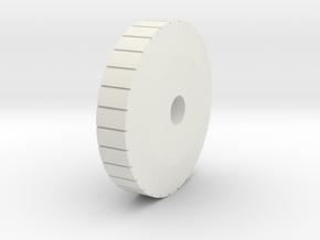 knurled pommel in White Natural Versatile Plastic