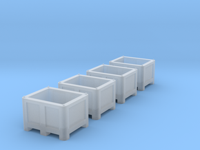 TT Scale Palletbox (4pc) in Smooth Fine Detail Plastic