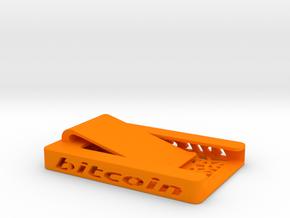 Bitcoin Wallet - Smallet  Orange in Orange Processed Versatile Plastic