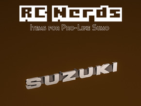 RCN119 Emblem for Suzuki Samurai PL in Smooth Fine Detail Plastic