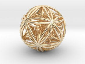 Icosasphere w/ Nested SuperStar  in 14K Yellow Gold