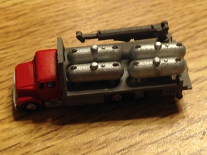 Propane Truck Bed with small crane in Smooth Fine Detail Plastic