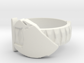 Sword in Hand Ring (Plastic) in White Natural Versatile Plastic: 5 / 49