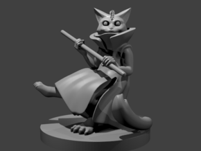 Catfolk Air Sorcerer in Smooth Fine Detail Plastic