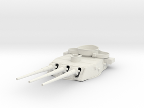 1/200 BB59 16 in (410 mm)/45 caliber Mark 6 gun 3 in White Natural Versatile Plastic