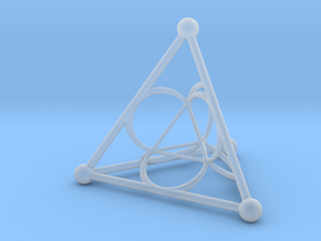 Nested Tetrahedron in Smooth Fine Detail Plastic