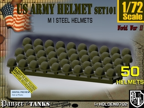 1/72 US M1 Helmet Set101 in Smooth Fine Detail Plastic