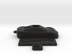 Keyfob for Opel speedster /VX220 in Black Natural Versatile Plastic